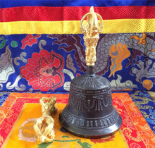 High Quality Bell and Dorje with silk cover/ Case