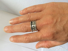 Handmade Silver Plated Buddha of Compassion ring