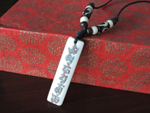 Yak bone Pendant Necklace with Compassionate Buddha mantra