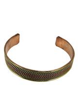 Handmade Braided Three Metal Medicine Healing Bracelet