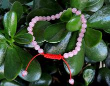 Small Rose Quartz Wrist Mala Bracelet (6mm beads)