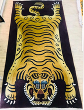 100 knot wool Tiger Rug carpet from Nepal 3x6