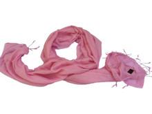 Handmade Pashmina Water Shawl from Nepal - Pink