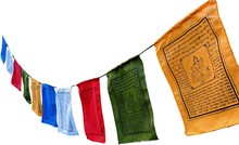 Large Handmade Tibetan Green Tara Prayer flags Tibetan with English Translation (9X12)