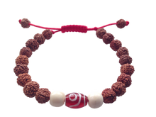 Agate Dzi and Rudraksha Wrist mala Bracelet