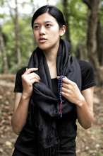 Handmade Pashmina Water Shawl from Nepal - Black