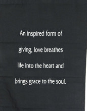 Large Cotton Love Inspirational Yoga Banner Scroll Style Three Color Choice (Olive Green)