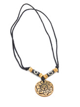 Buddha of Compassion Yak bone pendant necklace