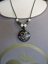 Body speech and Mind Om pendant