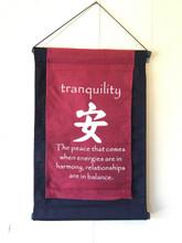 Handmade Tranquility Inspirational Yoga Baner