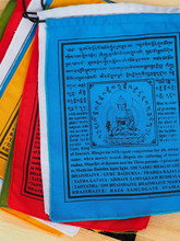 "Handmade Medicine Buddha prayer flags Tibetan with English Translation (6""X8"")"