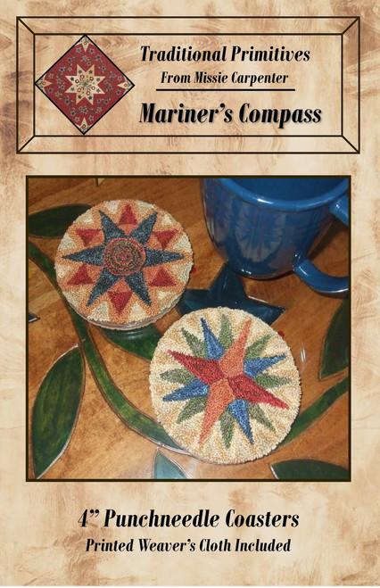 Mariners Compass Coaster Punchneedle