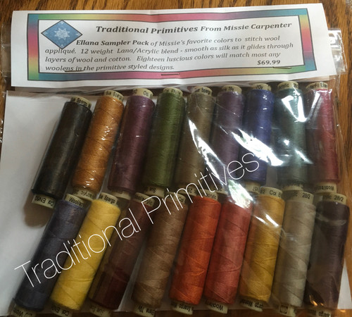 Ellana Wool Thread Sampler Packs