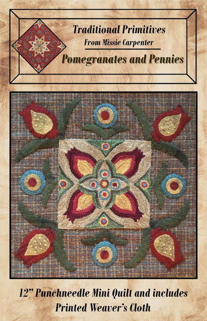 Pomegranates And Pennies Punchneedle Pattern