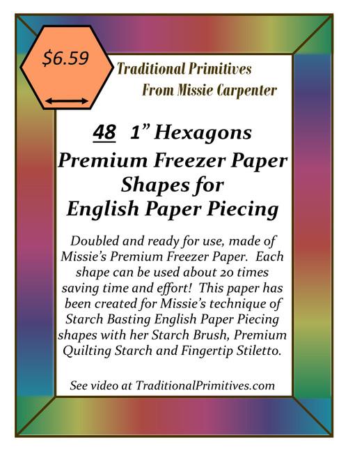 Precut English Paper Piecing Shapes