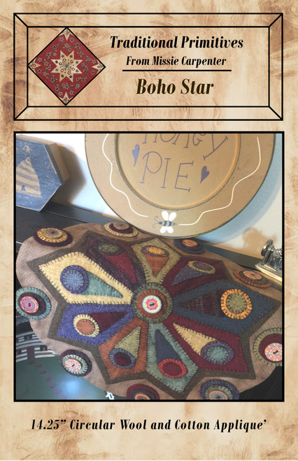 Boho Star Wool Applique'