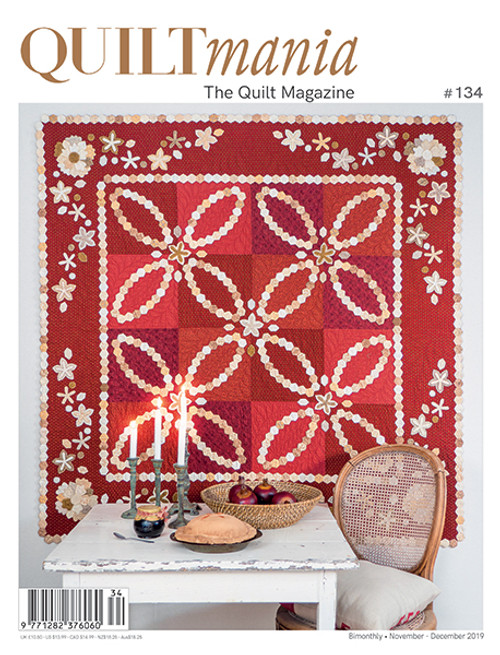 Missie's Quilt on Cover of Quiltmania Magazine, SOLD OUT