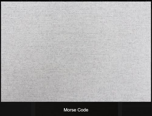 Morse Code Woolen Fabric