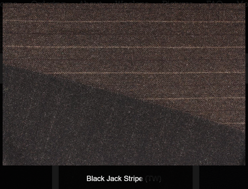 Black Jack Stripe- Reversable Woolen Fabric