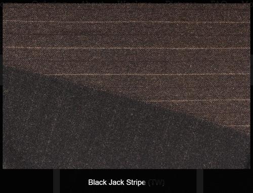 Black Jack Strip- Reversable Woolen Fabric