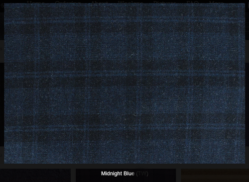 Midnight Blue Woolen Fabric