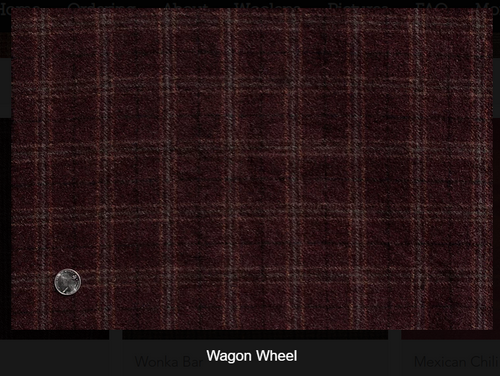 Wagon Wheel Woolen Fabric