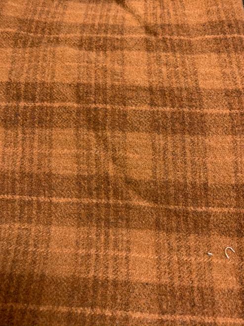 Rusty Orange Plaid Woolen Fabric