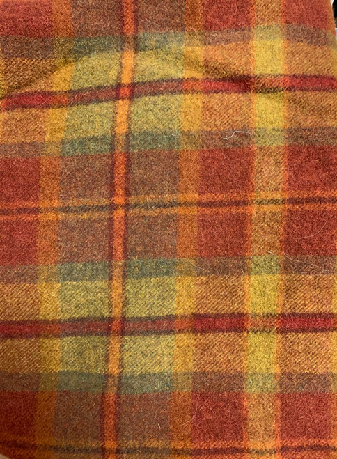 Bright Fall Plaid Woolen Fabric