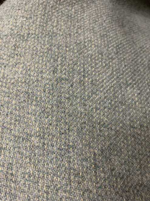 Minty Grey Textured Woolen Fabric