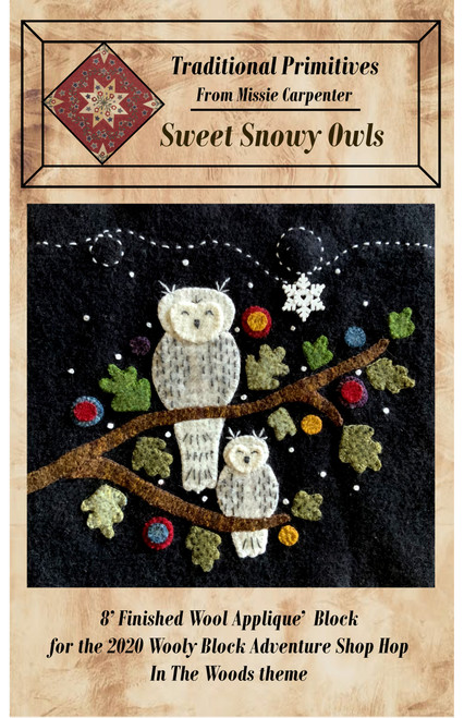 Sweet Snowy Owls Downloadable Pattern