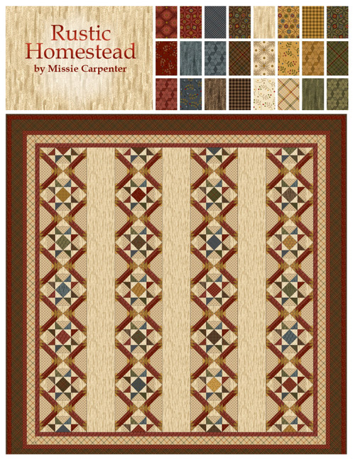 Rustic Homestead Fabrics from Missie Carpenter for Blank Quilting Corp