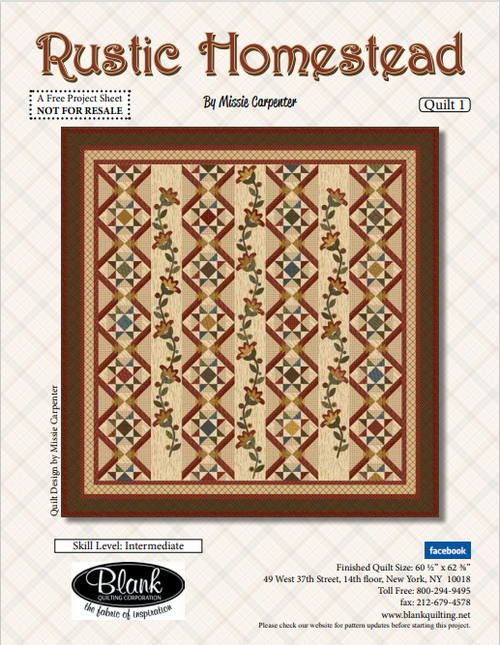 Rustic Homestead Free Pattern Download and Kit