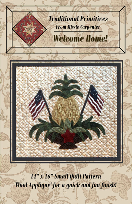 Welcome Home- Red, White and Wool Stitch Along Pattern Download