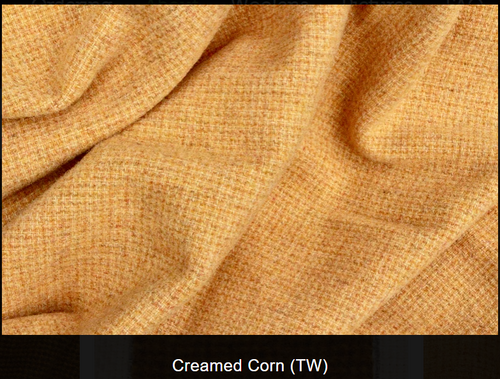 Creamed Corn Woolen Fabric
