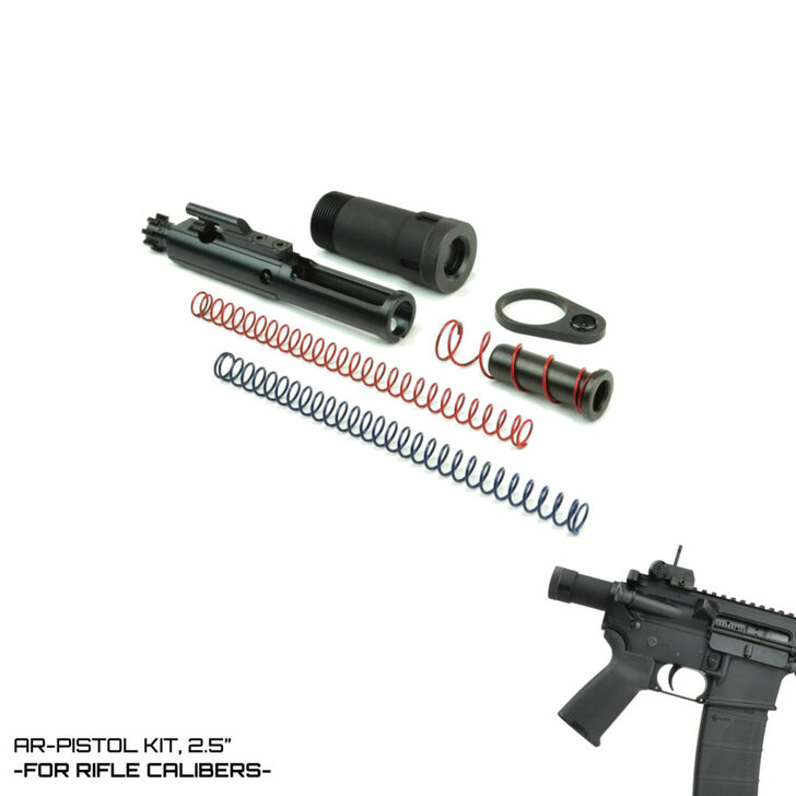 DFA Modified Cycle System -RIFLE CALIBER- AR-Pistol Kit 2.5""