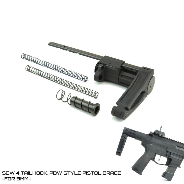 SCW 4 TAILHOOK PISTOL BRACE- FOR 9MM AR-15
