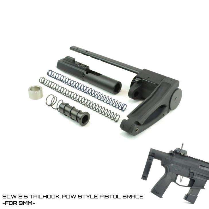 SCW 2.5 TAILHOOK PISTOL BRACE- FOR 9MM AR-15