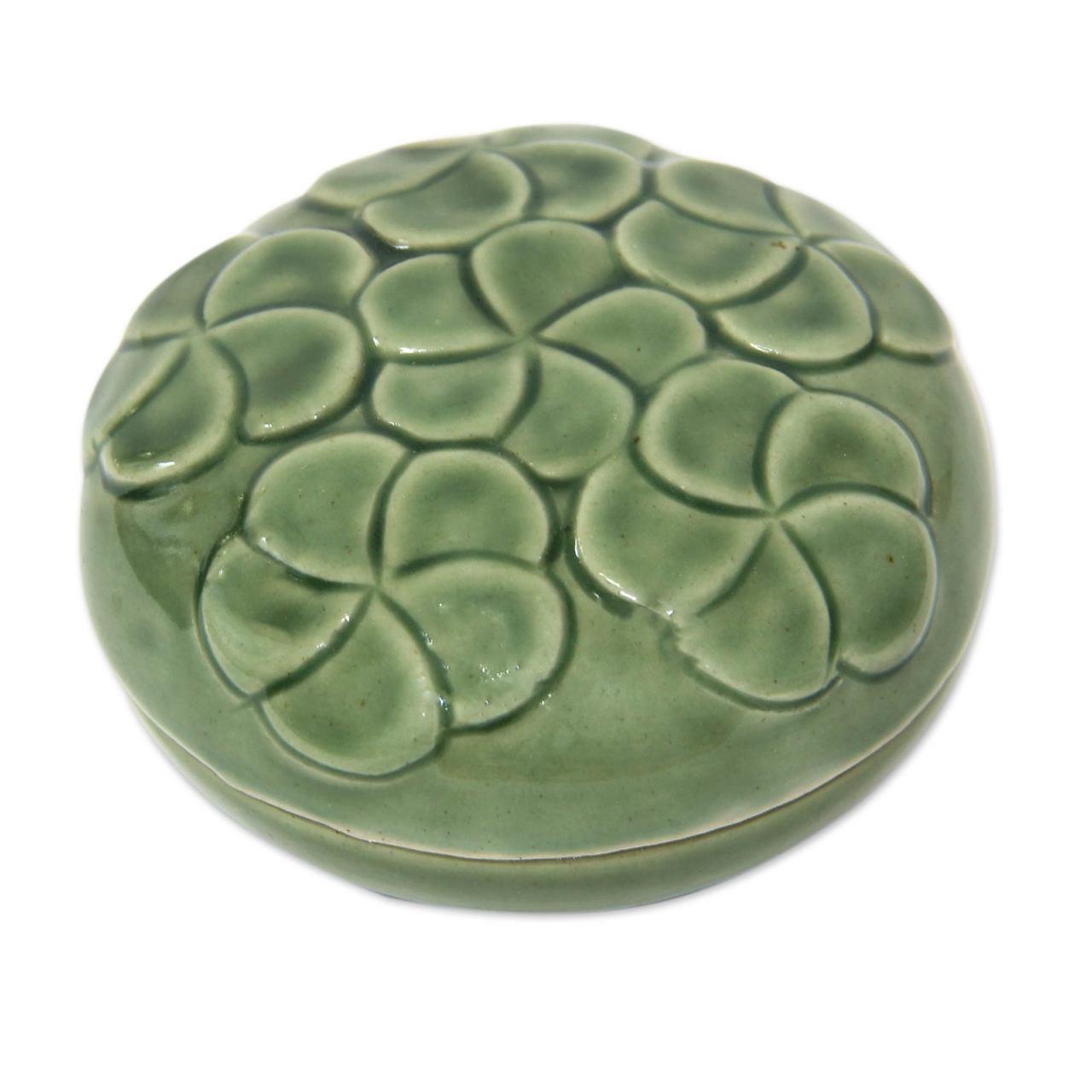 Handcrafted Ceramic Mini Box Plumeria Bouquet Unicef Market Canada