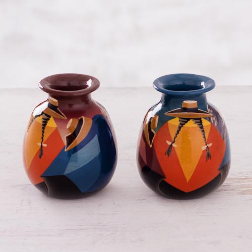 Cuzco Ceramic Vases (Pair) 'Get-Together'