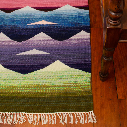 Hand Woven Wool Area Rug from Peru 'Sunrise'