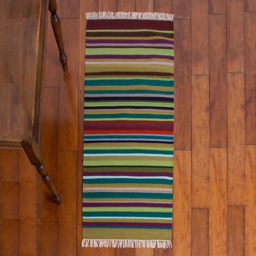 Wool rug 'Earth in Balance'
