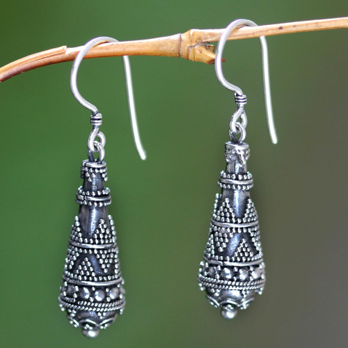 Sterling Silver Dangle Earrings 'Traditions'