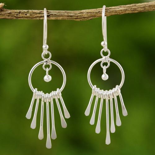 Sterling Silver Chandelier Earrings 'Catch the King's Eye'