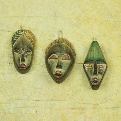 Handmade Wood Christmas Ornaments (Set of 3) 'Three Wise Men'