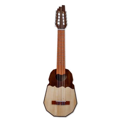 Genuine Andean Ronroco Guitar with Case 'Inca Sun'
