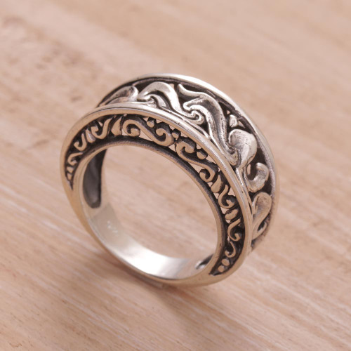 Artisan Crafted Sterling Silver Band Ring 'Refinement'