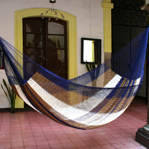 Hand Made Striped Mayan Hammock (Double) 'Atlantis'