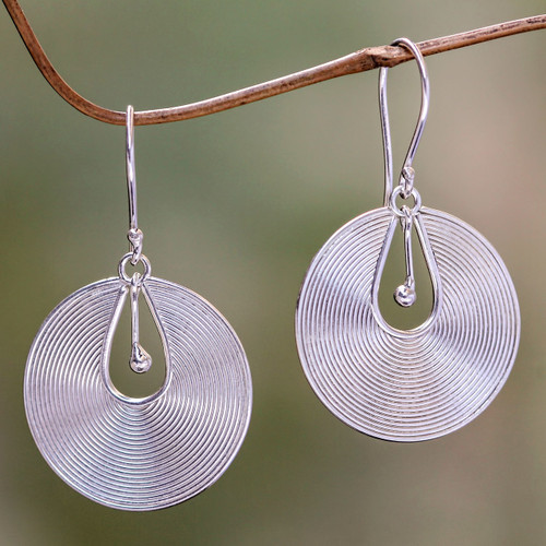 Sterling Silver Dangle Earrings 'Idea'