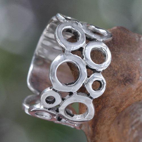 Sterling Silver Band Ring 'Afternoon'