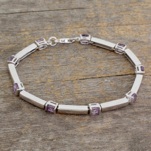 Amethyst tennis bracelet 'Current'